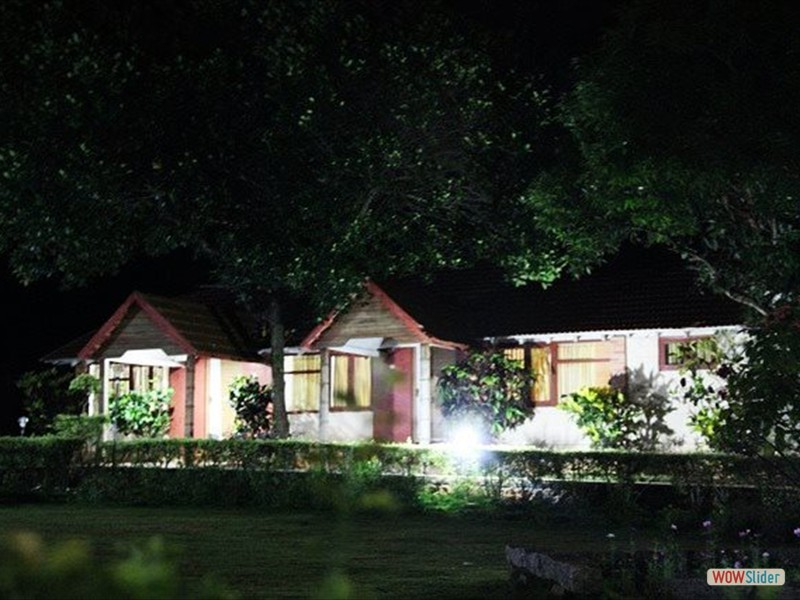 Night view of Premium Cottage with Sitouts